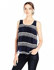 Buy Lucky Brand Women's Striped Surplice-Back Tank Top XL