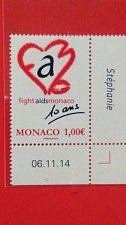 Buy Monaco 2015 health 1v MNH THEMATIC unusual flock stamp corner bloc
