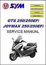 Buy SYM GTS / Joymax 250 - 250 EFi Scooter Service Manual on a CD