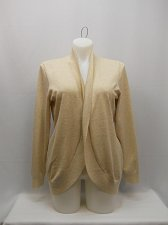 Buy Womens Cardigan Wrap Swing Cocoon SIZE 20 FADED GLORY Solid Beige Long Sleeves
