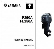Buy Yamaha 250Hp 4-Stroke ( F250 / FL250 ) Outboards Service Manual on a CD