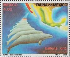 Buy Mexico 1v mnh stamp 1982 Gray Whale Fauna