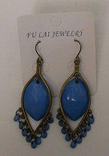 Buy Women Fashion Drop Dangle Earrings Turquoise Beads Leaf Shape FU LAI JEWELRY Hoo