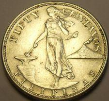 Buy Philippines 50 Centavos 1944-S Silver Unc