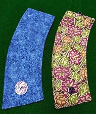 Buy coffee cozy set of 2 insulated handmade blue vine and multi floral prints