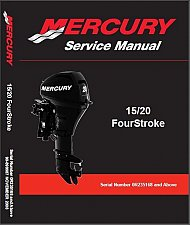 Buy 2008-2015 Mercury 15 / 20 FourStroke Outboard Motors Service Repair Manual CD