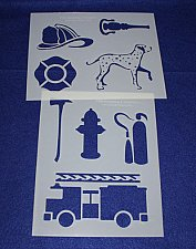 Buy 2 -Mylar 14 Mil Fire Department Stencils Painting/Crafts/Stencil/Template