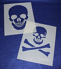 Buy Large Skull Stencils - Painting/Crafts/Stencil/Template 2 Pc Set -Mylar 14 Mil