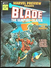 Buy Marvel Preview #3 BLADE THE VAMPIRE-SLAYER 1975 B&W Magazine comics (2nd one)