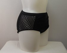 Buy Women Bikini Bottom SWIM SEXY SIZE 18 Crochet Side Detail Solid Black Charlatan