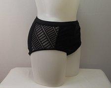Buy SIZE 18 Women Charlatan Bikini Bottom SWIM SEXY Crochet Side Detail Solid Black