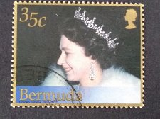 Buy Bermuda 1v used Reign of Queen Elizabeth II, 50th Anniv.