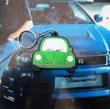 Buy 1 KEYCHAIN KEYRING Green Volkswagen Rubber Car,GIFT Free shipping