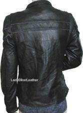 Buy Ladies Biker SOFT Black PREMIUM Leather ZIP Motorcycle Jacket ZIP Vents PIPING