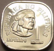 Buy Philippines 1977 Sentimo Proof~Rare 4,822 Minted~Square Coin~Free Shipping