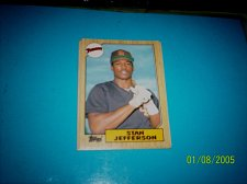 Buy 1987 Topps Traded Baseball CARD OF STAN JEFFERSON PADRES #T55 MINT