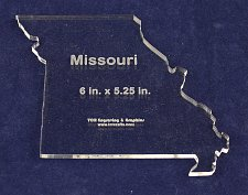 """Buy State of Missouri ~ 1/4"""" Quilt Template- Acrylic - Long Arm/ Sew"""