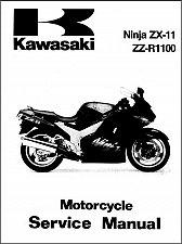 Buy 1993-2001 Kawasaki Ninja ZX-11 / ZZ-R1100 Service Manual on a CD