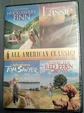 Buy 4movie DVD HuckleberryFinn,LASSIE,Tom Sawyer,Ron HOWARD,Mark TWAIN,Merle HAGGARD