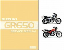 Buy 1983-1989 Suzuki GR650 GR650X Tempter Service Manual on a CD