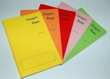 Buy 5 x A5 style GRAPH School Exercise books for calligraphy practice. Made in UK...