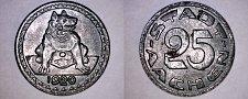 Buy 1920 German 25 Pfennig Kriegsgeld World Coin - Aachen Germany Notgeld