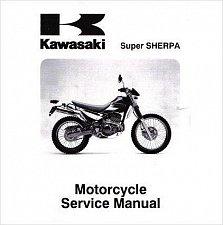 Buy 1997-2010 Kawasaki Super Sherpa KL250G / KL250H Service Manual on a CD