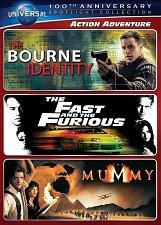 Buy 3movie DVD Bourne Identity,The Fast Furious,MUMMY Michell RODRIGUEZ Rachel WIESZ
