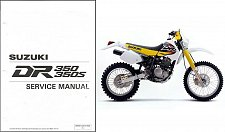 Buy 1990-1999 Suzuki DR350 / DR350S Service Manual on a CD -- DR 350 S