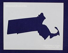 """Buy State of Massachusetts Stencil 8"""" x 10"""" -14 mil Mylar Painting/Crafts"""