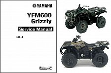 Buy 1898-2001 Yamaha YFM600 Grizzly 600 ATV Service Repair Manual CD .. YFM 600