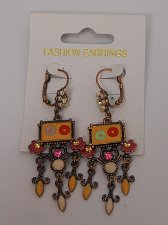 Buy Women Fashion Drop Dangle Earrings Multi Color Leverback Fastener FASHION EARRIN