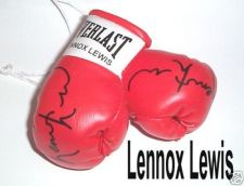 Buy Autographed Mini Boxing Gloves Lennox Lewis