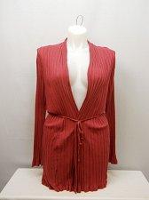Buy Women Wrap Swing Cardigan SIZE 2XL Berry Red Long Sleeves Belted Waist