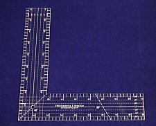 """Buy 9"""" L-Shaped Ruler. Acrylic 1/8"""" thick. Quilting/Sewing/Template"""