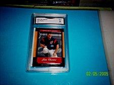 Buy 2001 UPPER DECK LEGENDS #13 JIM THOME MINT 9 GMA GRADED