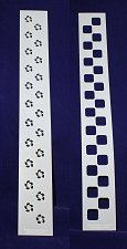 "Buy Checkerboard/Flower Border Stencil Set-14 Mil Mylar-3"" x 23.5 Painting/Crafts"