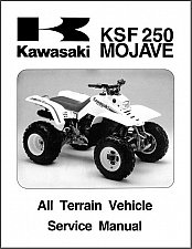 Buy 1987-2004 Kawasaki Mojave 250 ( KSF250 ) ATV Service Manual on a CD