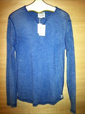 Buy Lucky Brand Men`s Blue Long Sleeve Indigo Casual Soft Garment Size S