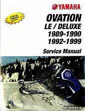 Buy 1989-1999 Yamaha Ovation 340 ( CS340 ) Snowmobile Service Manual on a CD