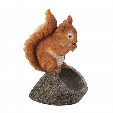 Buy *17282U - Red Squirrel Figure On Stump Bird Feeder