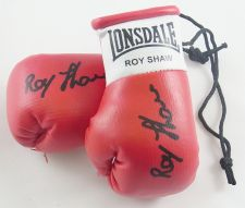 Buy Autographed Mini Boxing Gloves Roy Shaw