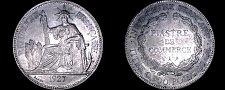 Buy 1927-A French Indo-China 1 Piastre World Silver Coin - Vietnam