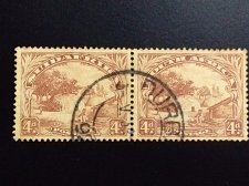 Buy South Africa Used stamp Se-tenant 1930 Michel ZA 33C-34C Native Kraal