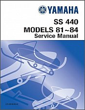Buy 1981-1982-1983-1984 Yamaha SS 440 ( SS440 ) Snowmobile Service Manual on a CD