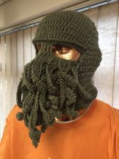 Buy Crotched Octopus Biker Balaclava in Grey Green