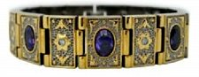 Buy ELECTRIFIED FEEL BETTER EJWJ-122C Titanium Bracelet Neodymium Magnets & Amethyst
