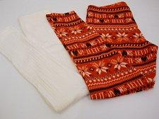 Buy SIZE L Womens 2PK CHRISTMAS SNOW Fleece Lined Leggings NO BOUNDARIES Skinny Legs