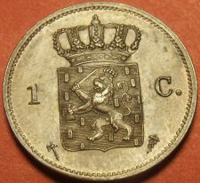 Buy Netherlands 1877 Cent Unc~Over 135 Years Old~Free Shipping