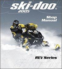 Buy 2005 Ski-Doo Rev ( GSX, GTX, MX Z, Summit ) Snowmobiles Service Manual on a CD